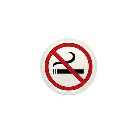 No Smoking Sign Mini Button (10 pack)