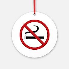 No Smoking Sign Ornament (Round)