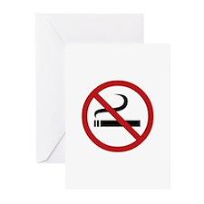No Smoking Sign Greeting Cards (Pk of 10)