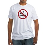 No Smoking Sign Fitted T-Shirt