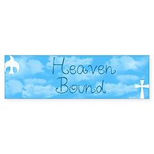Heaven Bound Bumper Car Sticker