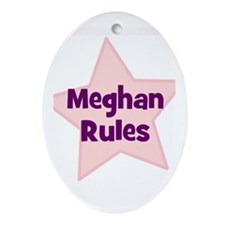 Meghan Rules Oval Ornament