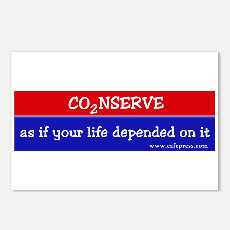 Conserve as if your life... Postcards (Package of