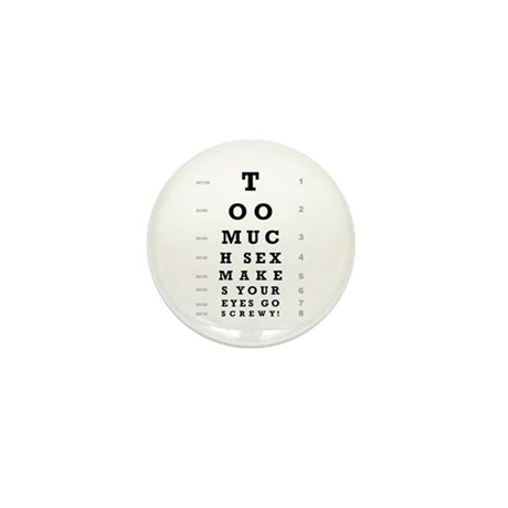 """""""Too Much Sex"""" Mini Button (100 pack)"""