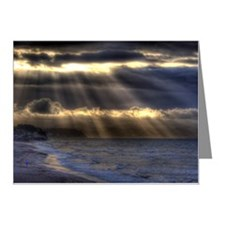 Shining through stormy cloud Note Cards (Pk of 10)