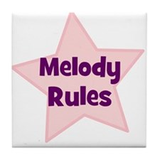 Melody Rules Tile Coaster