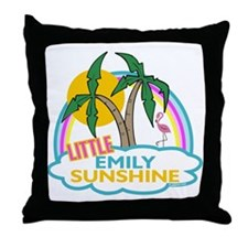 Island Girl Emily Personalized Throw Pillow