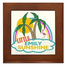 Island Girl Emily Personalized Framed Tile