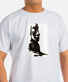 Easter Island Head Ash Grey T-Shirt