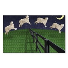 Sheep jumping over fence Decal