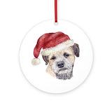Border terrier christmas Ornaments