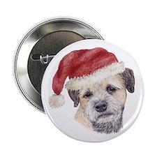 Christmas Border Terrier Button