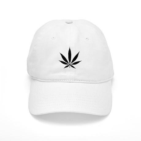 Marijuana Leaf B&W Cap
