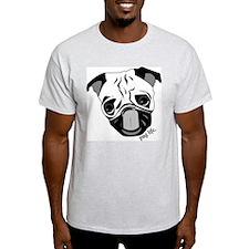 Pug Life Chewie Tongue Ash Grey T-Shirt