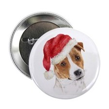 Christmas Jack Russell Terrie Button