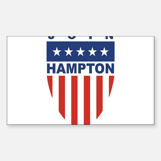 Join Tom Hampton Rectangle Decal