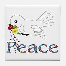 Peace Bird Tile Coaster
