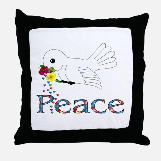 Peace Bird Throw Pillow