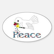 Peace Bird Oval Decal