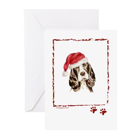 Merry Christmas Springer Spaniel Greeting Cards