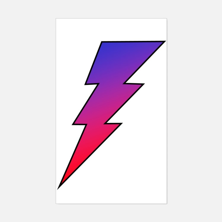 The Lightning Bolt 2 Shop Rectangle Decal