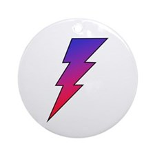 The Lightning Bolt 2 Shop Ornament (Round)