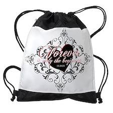 BD forever date v3wip dark.png Drawstring Bag