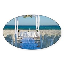 Canopy for Wedding on Beach, Reef P Decal