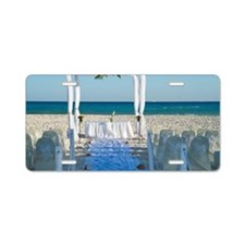 Canopy for Wedding on Beach Aluminum License Plate