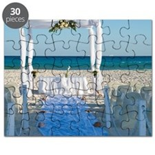 Canopy for Wedding on Beach, Reef Playacar  Puzzle