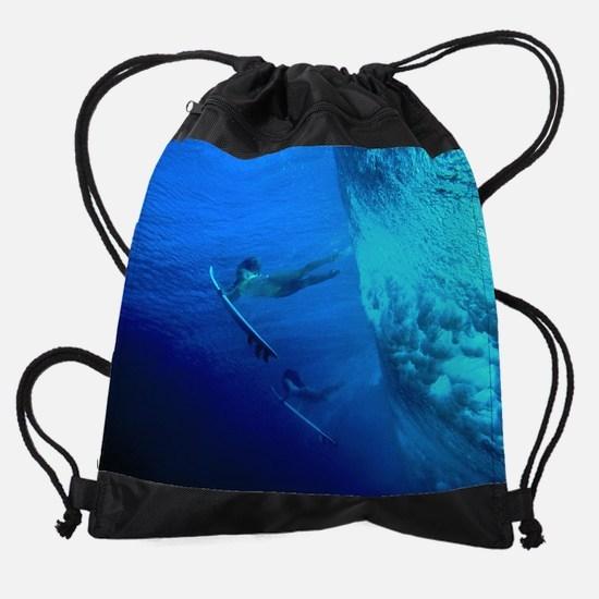 Calender Surfing 8.png Drawstring Bag