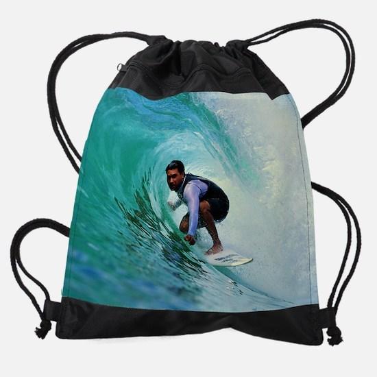 Calender Surfing 10.png Drawstring Bag