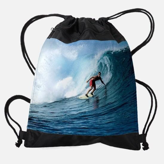 Calender Surfing 12.png Drawstring Bag