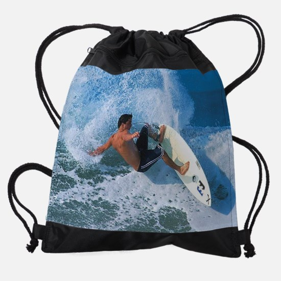 Calender Surfing 13.png Drawstring Bag