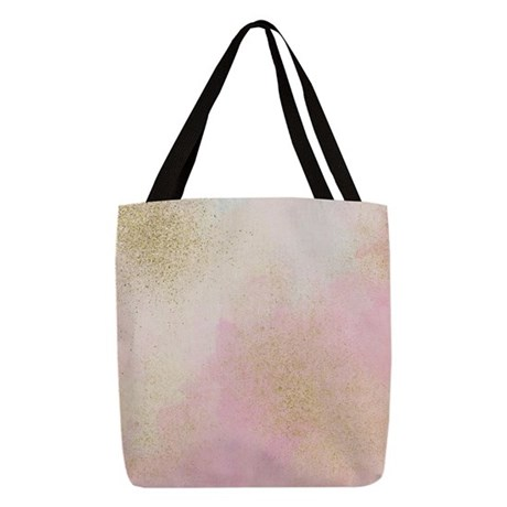 Pretty In Pink And Gold Delicat Polyester Tote Bag