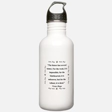 The Future Has Several Names - Hugo Water Bottle