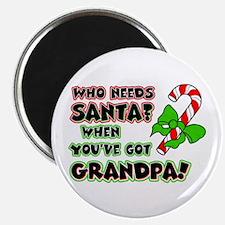 Santa? Grandpa! Magnet