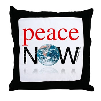 Peace Now Throw Pillow
