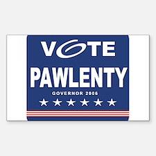 Vote Tim Pawlenty Rectangle Decal