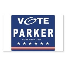 Vote Scudder Parker Rectangle Decal