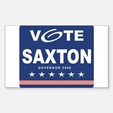 Vote Ron Saxton Rectangle Decal
