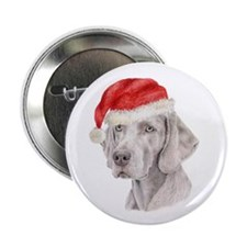Christmas Weimaraner Button