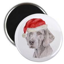 Christmas Weimaraner Magnet