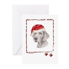 Happy Holidays Weimaraner Greeting Cards (6)