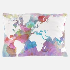 Design 48 World map Pillow Case