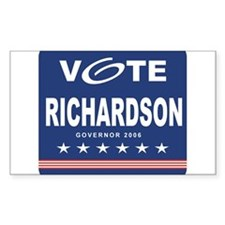 Vote Marvin Richardson Rectangle Decal