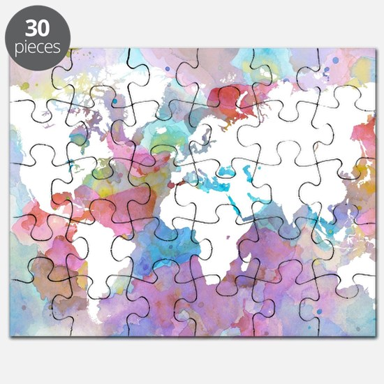 Design 48 World map Puzzle