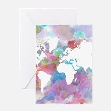 Design 48 World map Greeting Cards
