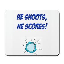 He shoots, he scores funny conception Mousepad