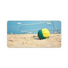 Beach volleyball Aluminum License Plate